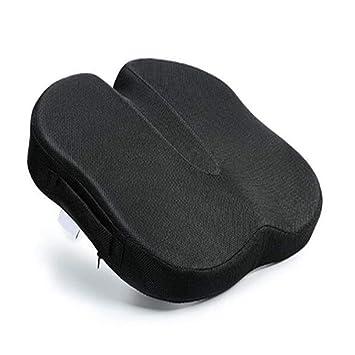 Cojín de asiento de espuma ortopédica ortopédica, almohada ortopédica antideslizante para el automóvil, la