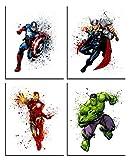 Avengers Infinity War - Captain America, Thor, Iron man, Hulk - art print, Illustration, Wall Art, Superhero, Gift, Illustration, Nursery Decor, 8 X 10 - Unframed Marvel movie art - Unframed