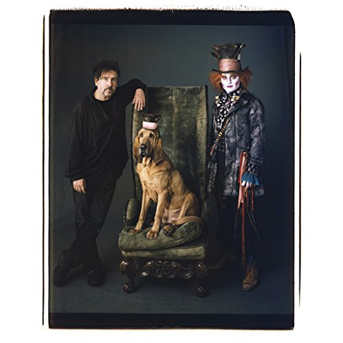 (Alice in Wonderland Tim Burton and Johnny Depp as Mad Hatter with bloodhound 8 x 10 Inch)