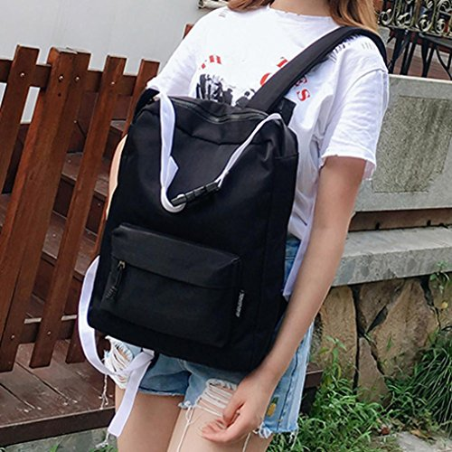 Stylish Doctor Style Multipurpose School Travel Backpack Daypack for Men Women (Black) by Srogem Bag (Image #3)