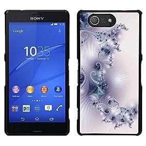 EJOY---Cubierta de la caja de protección para la piel dura ** Sony Xperia Z3 Compact ** --Modelo del papel pintado del arte de la luz blanca púrpura
