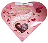 strawberry cream chocolate - Lindt LINDOR Strawberries and Cream Heart, 3.4oz