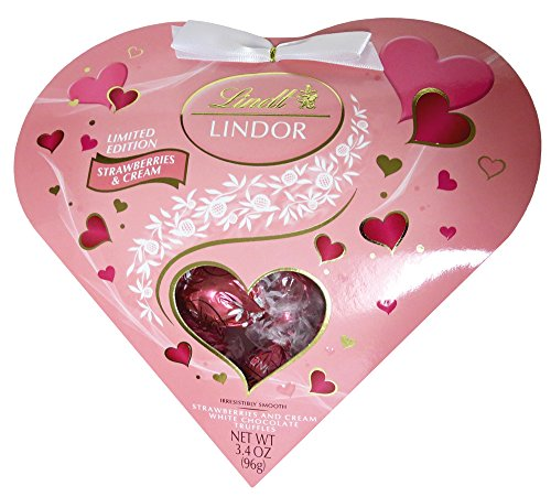 Lindt LINDOR Strawberries and Cream Heart, 3.4oz