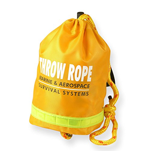 Tangle Free Floating - Goglobe Rescue Throw Bag with 60 Feet Floating Rope for Boating Kayaking Ice Fishing Safety