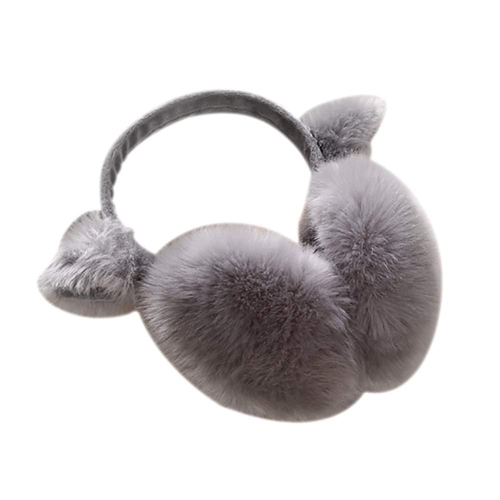 Women Cute Ear Cover Plush Soft Winter Warm Folding Earmuffs Earwarmers