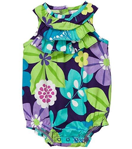 - Carter's Girls 1-piece Poplin Sunsuit (3M-24M) (12 Months, Purple/Turquoise)
