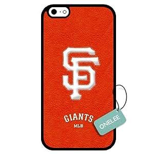 Onelee(TM) - Customized MLB San Francisco Giants Team Logo Design TPU Apple iPhone 6 Case Cover - Black 01