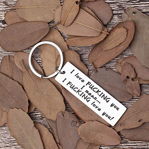 Love Keychain-Gifts-Boyfriend-Husband-him-her I Love You Key Chain Funny Gag Gifts for Hubby Valentine Day Anniversary Wedding Birthday Gifts for from Girlfriend Wife Couple her Presents (Good 1 Year Wedding Anniversary Gifts For Him)