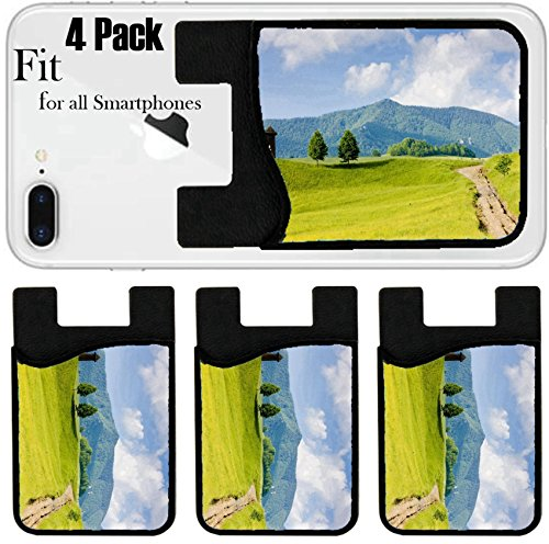 Liili Phone Card Holder Sleeve/Wallet for IPhone Samsung Android and all Smartphones with Removable Microfiber Screen Cleaner Silicone card Caddy(4 Pack) Zazriva Mala Fatra Slovakia Photo 8794434 - Pictures Slovakia Of