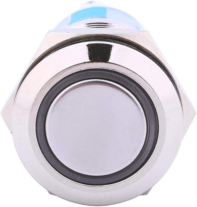 Qiilu QL11305 12V Auto Power Angel Eye Pulsante in metallo Blu LED Light Interruttore a levetta 19mm AP