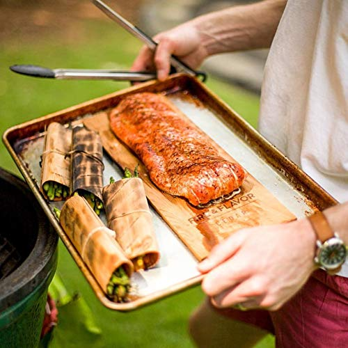 Fire & Flavor Natural Red Cedar Medium Grilling Planks, 4 x 7, Bulk Size 75 Count
