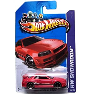 Amazon.com: Hot Wheels 2013 HW Showroom Nissan Skyline GT-R (R34) Red
