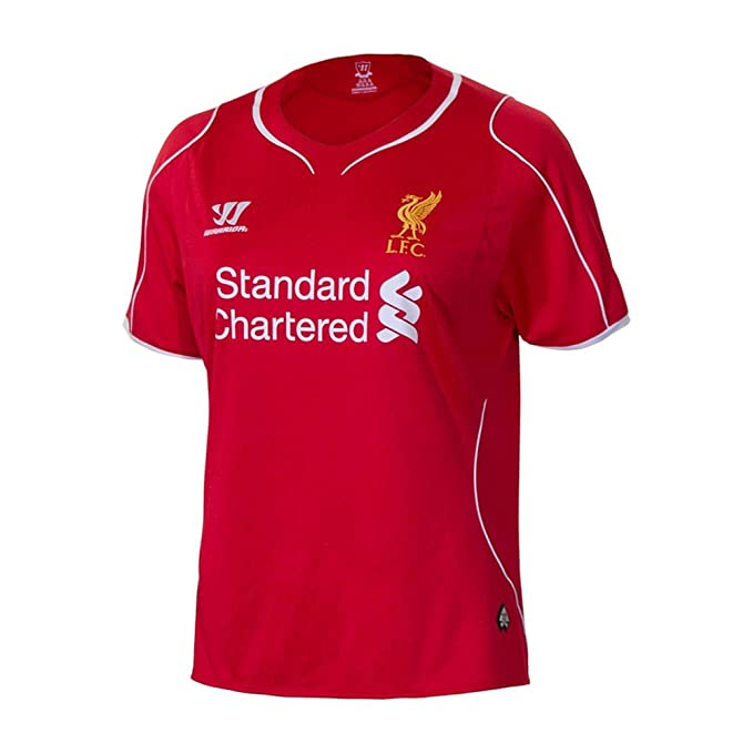fe236252640 Image Unavailable. Image not available for. Color  Warrior Liverpool FC  Home Ladies Short Sleeve Jersey ...