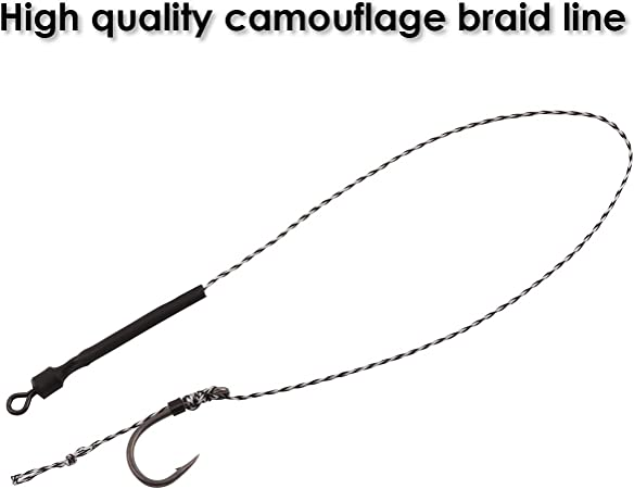 Barbed//Barbless Details about  /Korum One Knot Anti Tangle Hair Rigs Braided