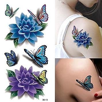 Amazon.com: Temporary Tattoos - Rose Tattoo Tafly Fake Tattoos ...