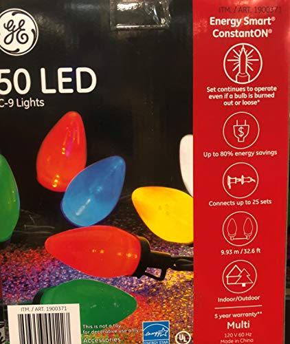 Blue C9 Led Christmas Lights in US - 9