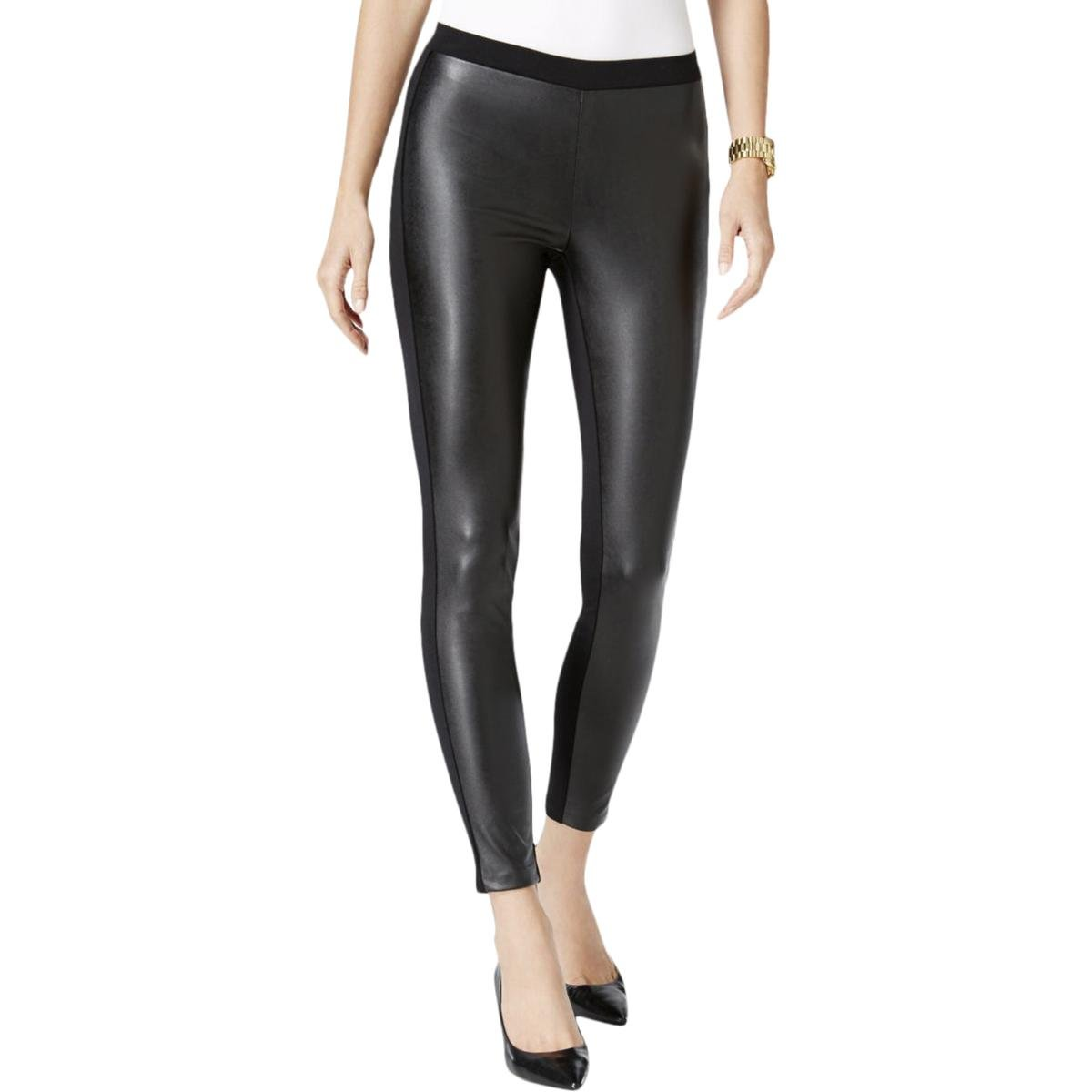 ab91b966968 Michael Kors Womens Petites Faux Leather Pull-On Skinny Pants  Amazon.ca   Clothing   Accessories