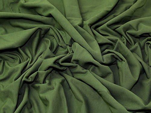 Minerva Crafts - Tela de punto de algodón y licra, color verde ...