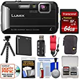 Panasonic Lumix DMC-TS30 Tough Shock & Waterproof Digital Camera (Black) 64GB Card + Case + Battery + Flex Tripod + Float Strap + Kit