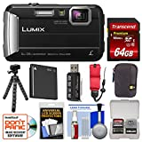 Cheap Panasonic Lumix DMC-TS30 Tough Shock & Waterproof Digital Camera (Black) with 64GB Card + Case + Battery + Flex Tripod + Float Strap + Kit