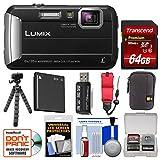 Cheap Panasonic Lumix DMC-TS30 Tough Shock & Waterproof Digital Camera (Black) with 64GB Card + Case + Battery + Flex Tripod + Float Strap + Kit