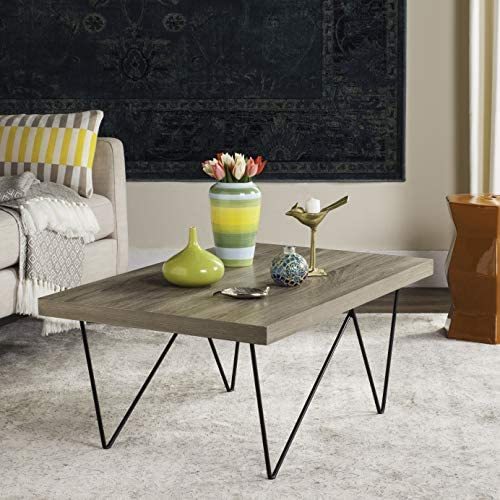 Safavieh Home Collection Amos Modern Light Brown Rectangle Coffee Table