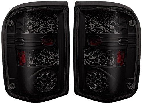 Winjet WJ20-0021-05 LED Tail Lights (Pair)- Black/Smoke ()