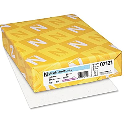 Neenah Paper - Classic Crest Stationery Writing Paper, 24-lb., 8-1/2 x 11, Earthstone, 500/Ream 07121 (DMi RM