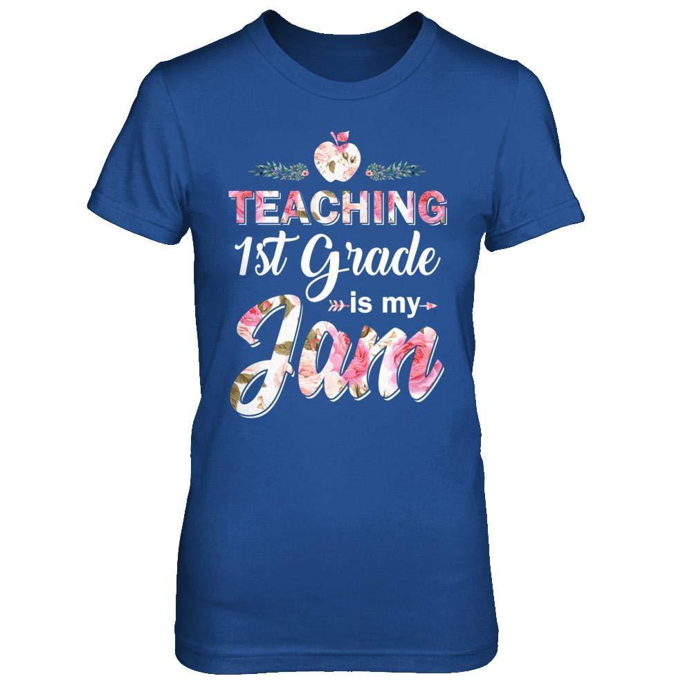 Teaching 1st Grade Is My Jam Back To School Tea Shirt Short Sleeve Tee