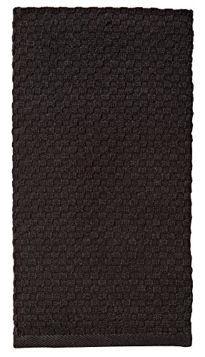Kitchen Towels Dish 2 (Cotton Craft - 8 Pack - Euro Cafe Waffle Weave Terry Kitchen Towels - 16x28 Inches -Black - 400 GSM quality - 100% Ringspun 2 Ply Cotton - Highly Absorbent Low Lint - Multi Purpose)