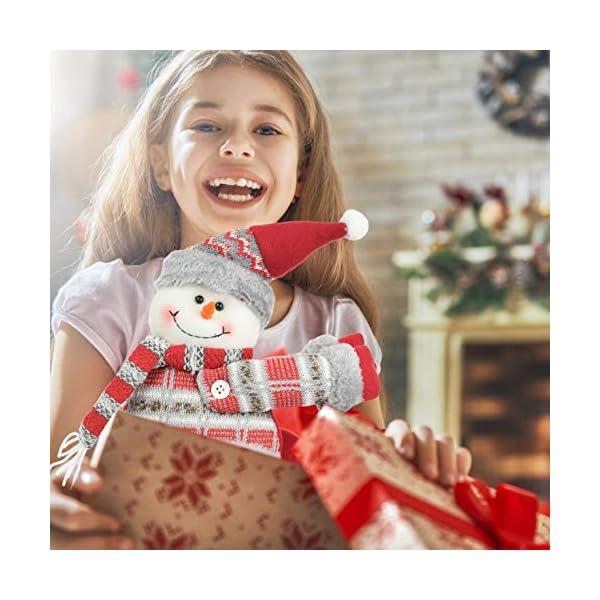 UMIPUBO Natale Sipario Fibbia in Velcro,Bambola di Natale,Fibbia Tenda Natalizia Babbo Natale Alce Pupazzo di Neve,Fissaggio Tende Fibbie,Decorazioni Natalizie, 3 spesavip