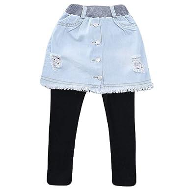 Leggings con Jeans Primavera Otoño Invierno Pantalones Falda ...
