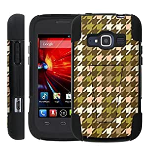 [ManiaGear] Rugged Armor-Stand Design Image Protect Case (Houndstooth Pop) for ZTE Concord II 2 Z730
