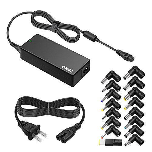 - ZOZO 90W AC Universal Laptop Charger for HP Dell Toshiba IBM Lenovo Acer ASUS Samsung Sony Fujitsu Gateway Notebook Ultrabook Chromebook DC Output 15V 16V 18.5V 19V 19.5V 20V Power Adapter Supply Cord