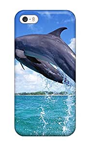 Unique Design Iphone 5/5s Durable Tpu Case Cover Nice Jumping Dolphin