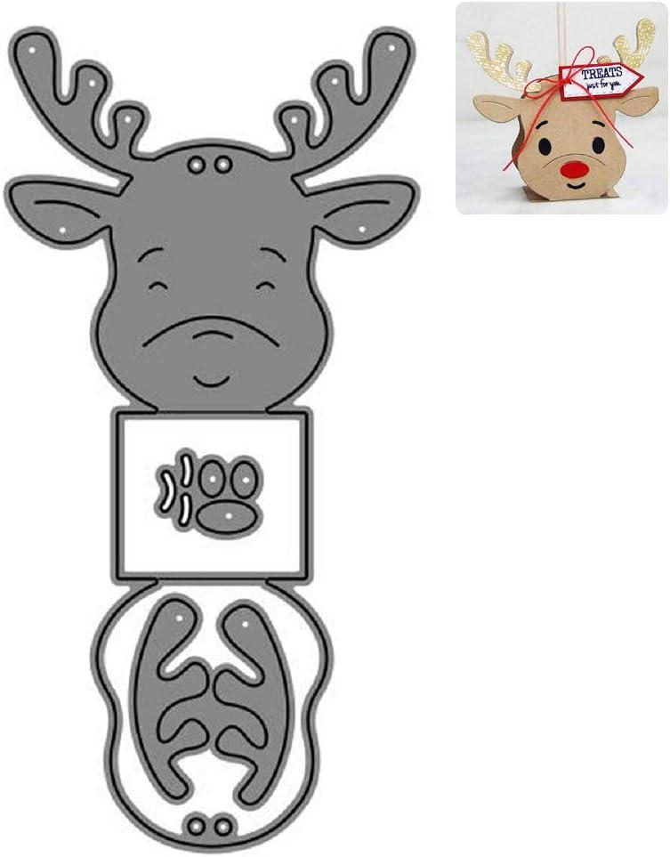 in metallo Fustelle da taglio a forma di cervo per progetti fai da te scrapbooking album di ritagli decorazioni su carta e biglietti goffratura