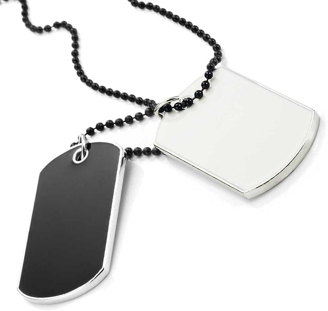 Amazon.com: 2pcs, estilo del ejército etiqueta de perro ...
