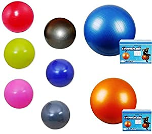 Gymnastikball Sitzball Fitnessball Ball + Pumpe Größe: 65 cm, Farbe: Dunkelblau