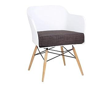 SuperStudio Lo + de Moda Bantra Wood Silla, Haya, Blanco ...