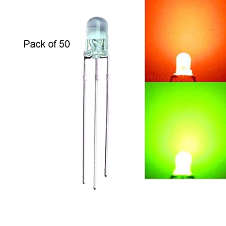 Active Components Chanzon 100pcs Led 3mm Diffused Common Cathode Green And Red 3 Pin Round 3 Mm Bi-color Led Through Hole Light-emitting Diode