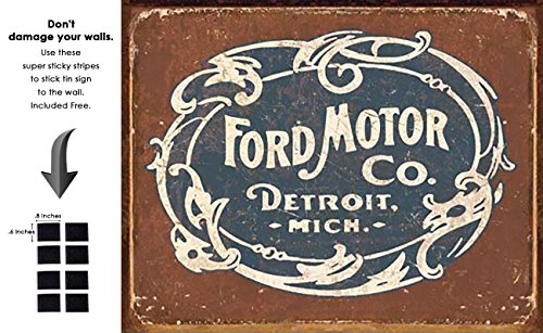 (Shop72 - Tin Sign Ford - Historic Logo Vintage Tin Sign Retro Metal Sign)