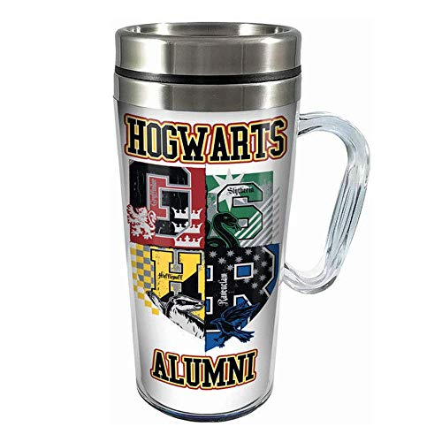 Spoontiques 17184 Hogwarts Alumni Insulated Travel Mug, 14 ounces, White