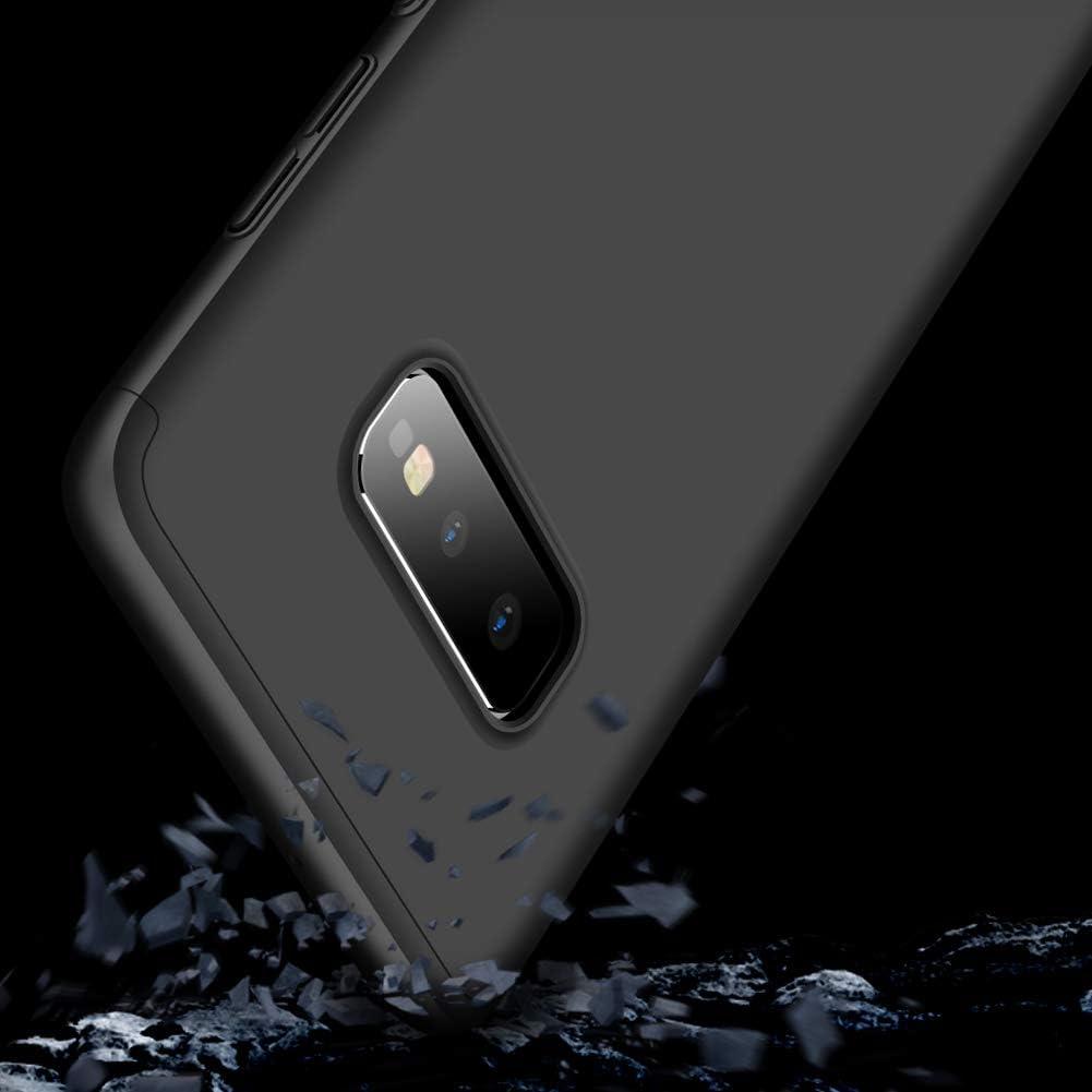 AKC Coque Compatible Samsung Galaxy S10e Ultra Mince Cover 3 en 1 Bumper 360/°Full Protection en 2*HD Verre Tremp/é Housse Anti Chuter Anti-Rayures PC Hard Case R/ésistant /à lusure-Noir