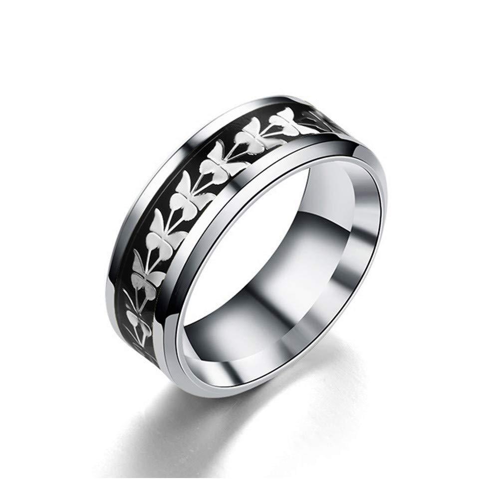 Uscharm Women Rings Bohemian Vintage Silver Rings Boho Butterfly Rings Finger Rings Golden (BK6)