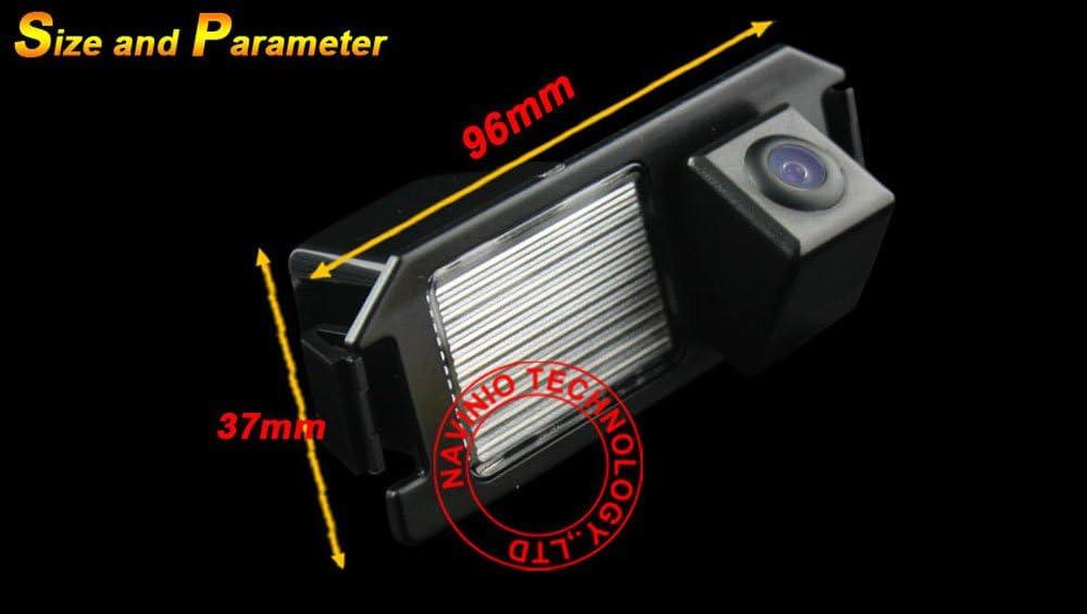 NTSC Kalakus Auto HD CCD R/ückfahrkamera 170/° Weitwinkel mit Radar Sensor Einparkhilfe Universal Schwarz f/ür Hyundai I30// Genesis//Tiburon 2007//2008// Soul//Rohens- Coupe