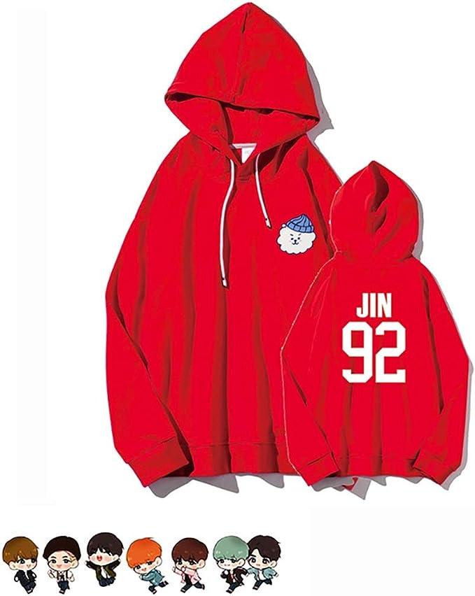 Tanersoned Unisex BTS Zipper Hoodie Sweatshirt Kpop Bangtan Boys Zip Up Jacket Outwear