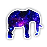 "Elephant Sticker Galaxy Collection - Laptop Stickers - 2.5"" Vinyl Decal - Laptop, Phone, Tablet Vinyl Decal Sticker"