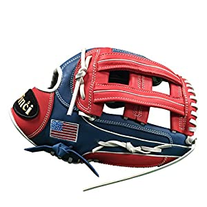 """Vinci Limited 13"""" Softball/Baseball Glove Red, White, & Blue Right Handed Thrower"""
