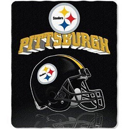(Officially Licensed Pittsburgh Steelers Gridiron Series Fleece Throw Blanket)
