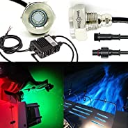 WakeStar IP68 Underwater 1/2in Standard Boat Drain Plug colour changing LED Light, Brilliant Underwater Lighti